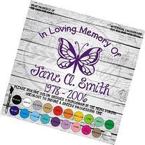 In Memory Butterfly Vinyl Die Cut Decal Sticker for Car