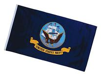 In the Breeze U.S. Navy Grommet Flag, 3 by 5-Feet