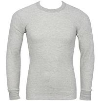 Indera - Mens Long Sleeve Thermal Top, Grey, 810LS 27464-X-