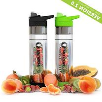 Infusion Pro Premium 2 Pack Fruit Infused Water Bottle -