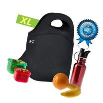 Insulated Neoprene Lunch Bag for Men, Women and Kids | Extra
