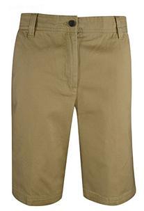 Izod- Saltwater Flat Front Shorts Cedar Khaki Size 36