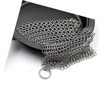 Cast Iron Cleaner 7 inches Stainless Steel Chainmail