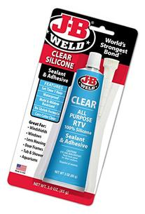 J-B Weld 31310 Clear All-Purpose RTV Silicone Sealant and