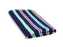 J & M Home Fashions Candy Stripe 100% Cotton Terry Cabana