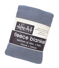 Luxury Solid Fleece Blanket Throw, Twin/Twin X-Large 60x96