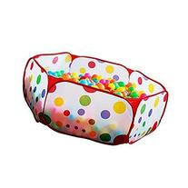 Jacone 1m Portable Durable Hexagon Polka Dot Kids Playpen