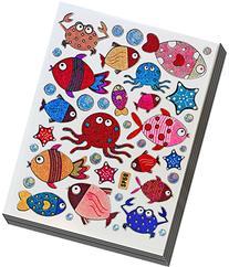 Jazzstick 200 Glitter Cute Fish, Octopus, Crab Decorative