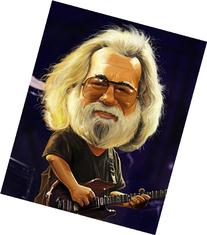 Jerry Garcia Grateful Dead Caricature Very Limited Edition  Giclee on Canvas Artwork: Musician, Signed, Numbered, Certificate of Authenticity, Ready