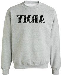 Joe's USA - Vintage ARMY Crewneck Sweatshirts - Army Grey -