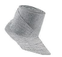 Silver Diamond Rhinestone Ribbon Wrap Bulk DIY Bling 30 Feet