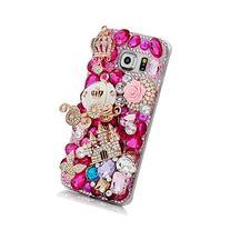KAKA Samsung Galaxy S7 Cover,3D Handmade Rose Rhinestone