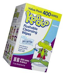 Kandoo Flushable Sensitive Wipes Refill Packs 400ct