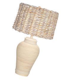 Kathy Ireland Pohaku Natural White Wash Table Lamp