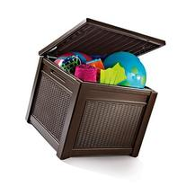 Keter All-Weather Rugged Plastic Outdoor Patio Pool Storage