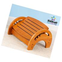 KidKraft Adjustable Nursing Stool - Honey Oak