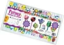Kids 24 Colorful Pencils and Erasers with Step By Step 32