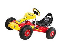 Ricco PB9788A Red Kids Pedal Go-Kart Ride On Rubber Wheels