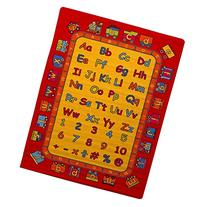 Kids Rug ABC Fun Learning 5' X 7' Children Area Rug - Non