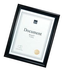 Kiera Grace Embassy Document Frame, 8.5 by 11 Inch, Black
