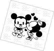 Kissing Minnie Mouse Fan-Art Vinyl Car Decal, Sticker,