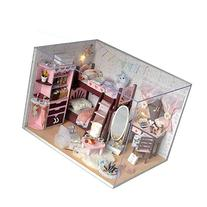 Kits DIY Wood Dollhouse Miniature Dolls House Room 3D wood