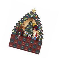 Kurt Adler Christmas Tree 24 Piece Advent Calendar 16 Inch