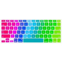 Kuzy Newest Rainbow Keyboard Cover Silicone Skin for MacBook
