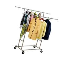 LANGRIA Double Rod Garment Rack with Adjustable Extendable