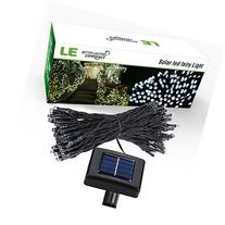 LE Solar Power 100 LED String Lights, 49ft/15m, Waterproof,