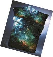 LELVA Galaxy Bedding Set Galaxy Duvet Cover Set Kids Bedding