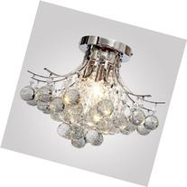 LOCO® Chrome Finish Crystal Chandelier with 3 lights, Mini