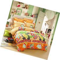 LOVO Kids Dinosaur Fighter Cotton 300TC 4-Piece Bedding Set