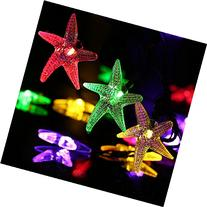 LUCKLED Starfish Solar String Lights, 20ft 30 LED Fairy
