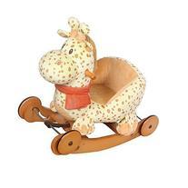 Labebe Lovely Baby Rocking Horse with Safe Backrest & Wheels