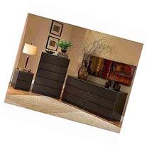 Laguna Double Dresser, 5-drawer Chest and Nightstand Set,