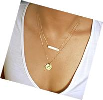 Layering Necklace, Gold Bar Necklace, Name Plate Necklace,