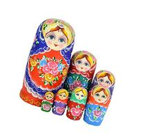 Leegoal 7pcs Different Sizes Cutie Nesting Dolls Matryoshka