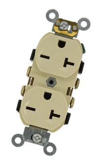 Leviton 5822-I 20-Amp, 250-Volt, Narrow Body Duplex