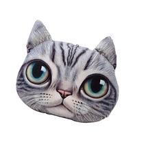 LifeJoy 3D Plush Cat Head Shape Pillow Car Sofa Chair Back
