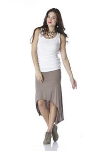 Lilac Maternity : Sonia Skirt - Taupe