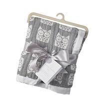 Living Textiles Muslin Textured Blanket - Grey Owl -