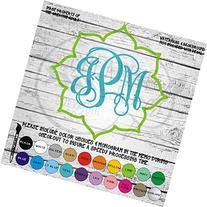 Lotus Outline Monogram Vinyl Die Cut Decal Sticker MGM72