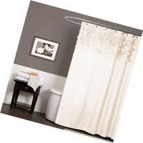 Lush Decor Lillian Shower Curtain, 72-Inch by 72-Inch, Beige