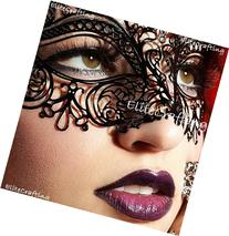Luxurious Venetian Black Masquerade Mask - Intricate Laser