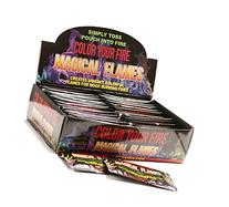 Magical Flames: Creates Colorful Flames For Wood Burning