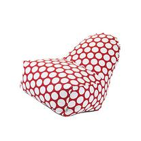 Majestic Home Goods Large Polka Dot Kick-It Chair, Red Hot