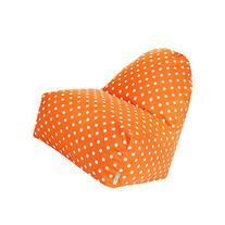 Majestic Home Goods Small Polka Dot Kick-It Chair, Tangerine