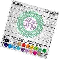 Mandala Circle Monogram Vinyl Die Cut Decal Sticker for Car