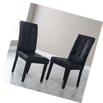 Martha Bonded Leather Parsons Dining Chair - Set of 2